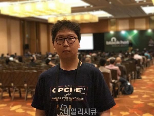 ▲ 블랙햇 아시아(BlackHat Asia) 2017 심사위원 이승진 그레이해쉬 대표[데일리시큐=싱가포르]