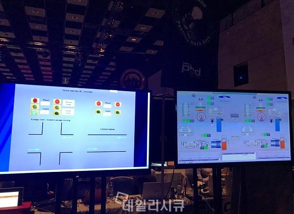 ▲ 도시기간망 공격 이벤트를 통해 자사의 산업 보안 사고 관리 시스템을 홍보하고 있는 포지티브 테크놀로지(Positive Technology)
