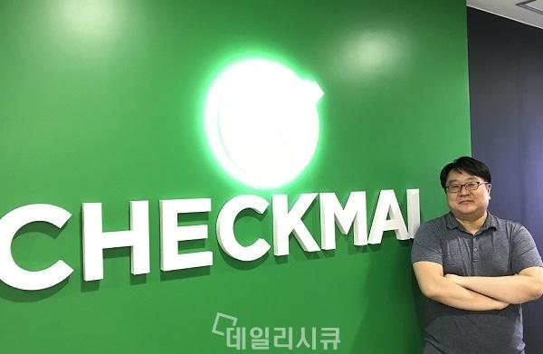 ▲ 김정훈 체크멀 대표이사. 판교 신 사옥에서.