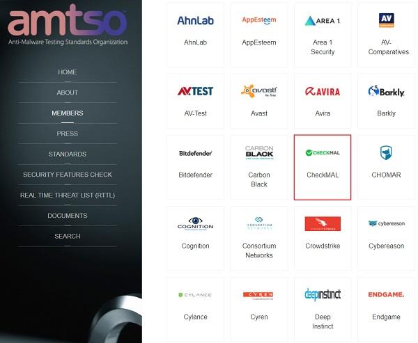 ▲ 체크멀(대표 김정훈), 국제 안티멀웨어 테스트 표준화 기구인 'AMTSO'에 가입.