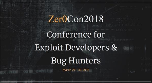 ▲ POC Security가 3월 29~30일 개최하는 Zer0Con(제로콘)의 9개 발표 주제 선정이 완료. 14일까지 조기등록 마감.
