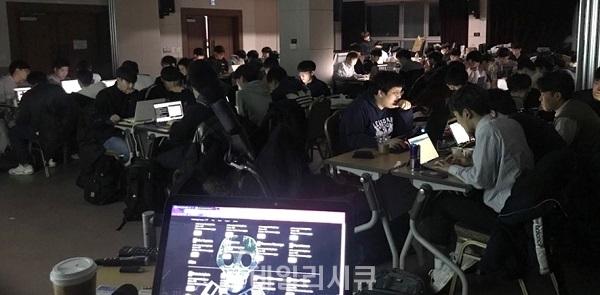 ▲ 17회 해킹캠프에 80여 명의 학생들이 참여해 다양한 프로그램을 진행했다.