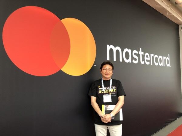 ▲ 마스터카드 스타트업 프로그램에 참가 중인 유창훈 센스톤 대표