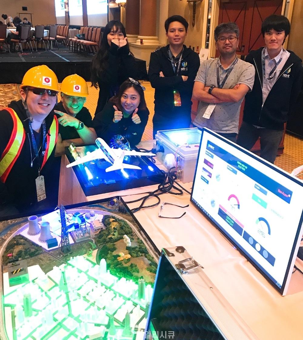 ▲ 데프콘 26에서 ICS CTF 대회를 운영한 NSHC 레드얼럿팀.[데일리시큐=라스 베이거스]