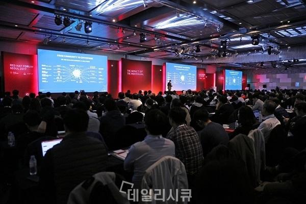 ▲ '레드햇 포럼 서울 2017' 행사 모습