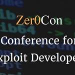 익스플로잇 개발자 위한 컨퍼런스 'Zer0Con(제로콘)' 열린다