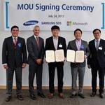 마이크로소프트-삼성SDS, 클라우드 비즈니스 위한 전략적 업무협약 체결