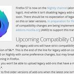 파이어폭스 57부터 구형 애드온 지원 중단