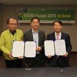 개인정보보호표준포럼(PSEF), 아시아지역정보보호포럼(RAISE)과 업무협력 체결